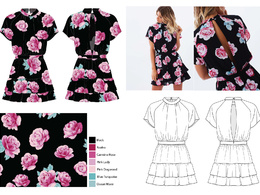 Create fashion technical flat drawings from your design