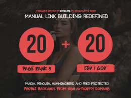 20 Pr9 + 20 Edu - Gov High Pr SEO Authority Backlinks