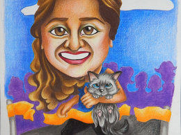 Draw a caricature of you/your friend/family/pet