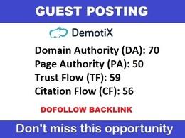 Publish a guest post on Demotix - Demotix.com - DA 70, PA 50