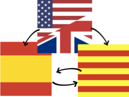 Translate 1000 words from English to Catalan and Spanish
