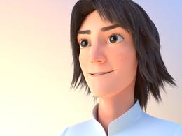 Create a ready to animate a 3D cartoon character