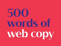 Write a page of expertly crafted copy for your website