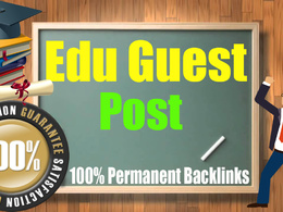 Guest Post on 5 High Unbeatable Edu with SEO Dofollow Backlinks
