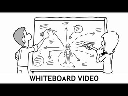 Make a professional B/W whiteboard doodle video /free voice-over