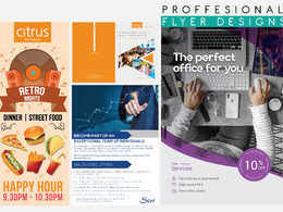 Design a Professional Flyer or Leaflet + UNLIMITED REVISIONS