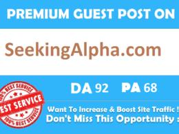 [Main Site] Guest Post on SeekingAlpha - SeekingAlpha.com DA: 92