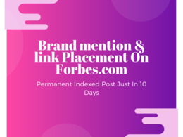 Do guest post on Forbes - Forbes.com