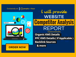 I will do 2 competitor analysis and provide detail reports