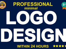 Professional logo design within 24 hours , minimal logo design