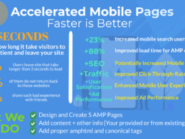 Create AMP Page  for WordPress / HTML Websites (5 Pages)