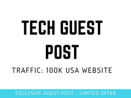 Guest Post on Techrado.com - Techrado DR 60  Traffic: 100k
