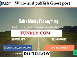 Do Dofollow Guest post on Fundly, Fundly.com