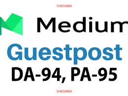 Write and Publish Guest Post on Medium - Medium.com DA 95 PA 80