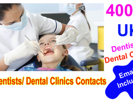 Send you 4000 Uk Dentists contact/emails list