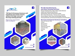 Design a Double Sided Professional Flyer/Leaflet/Business Card