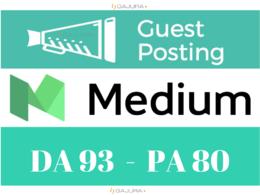 Write and publish live guest post on Medium,Medium.com
