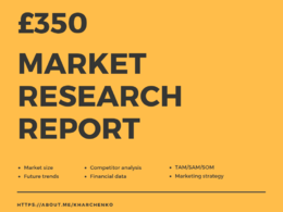 Prepare in-depth market research and competitor analysis