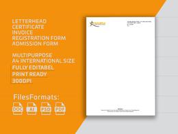 Design editable letterhead in ms word