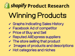 Provide you shopify winning products for your online store.