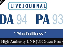 Write & Publish a guest post on LiveJournal.com DA-96 PA-95