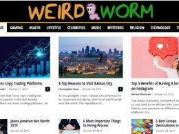 Publish a Guest Post on weirdworm - weirdworm.com DA60