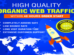 Keyword targeted Organic web traffic with 2-3 minute visit time