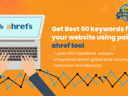 Get best 100 keywords for your website using Paid ahrefs Tool