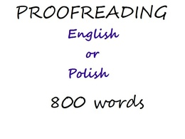 Proofread 800 words for grammar, spelling and punctuation