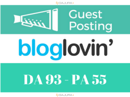 Write and Publish dofollow Guest post on  Bloglovin.com Da93