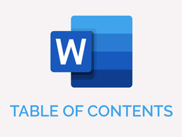Set up your Table of Contents in Microsoft Word