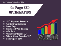 Provide SEO services for on page optimization for google ranking