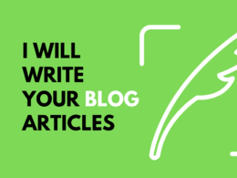 Write your blog articles