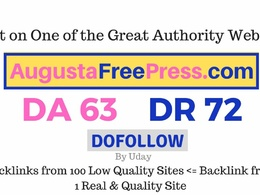 Publish a guest post on  Augustafreepress.com DA63, DR72
