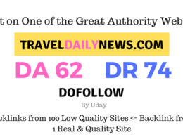 Publish a guest post on TravelDailyNews.com DA62, DR74