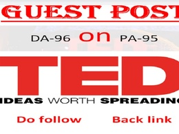 Media Guest Post On TED.com DA 96 Dofollow