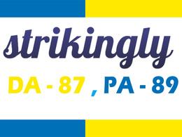 Publish Dofollow blog on strikingly. com DA-87