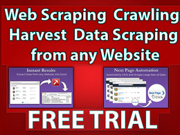 Web scraping / crawling/ Harvest/ data scraping from any website