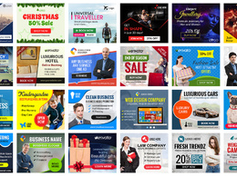 Design all google adwords ads and web slider banners