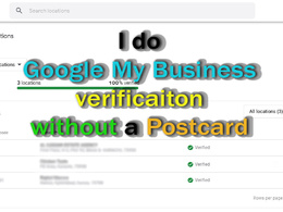 Google My Business listing verificaiton without a postcard