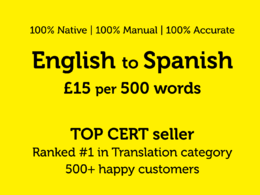 Professionally translate 500 words from English to Spanish