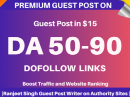 Guest Post on high DA websites only in $15
