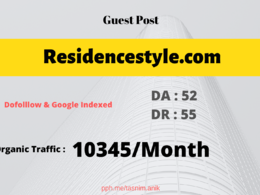 Residencestyle.com Traffic: 9143/mo Home Improvement guest post
