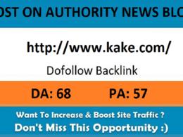 Add A Guest Post On Kake.com– DA 68 News Blog