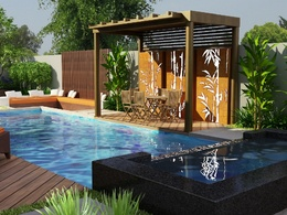 Design architecture site plan and landscape render