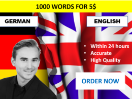 Proofread 1000 words in English and German