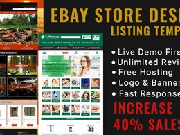 Create custom ebay store and responsive listing templete