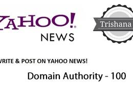 Guest Post on yahoo.com , YAHOO DA 95 Top Google NEWS site