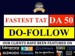 Write + publish on DA30-DA70 , all niche, dofollow link