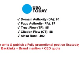 Post on Usatoday.com with backlinks & brand mention & CEO quote